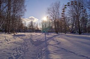 Зима в городском прке