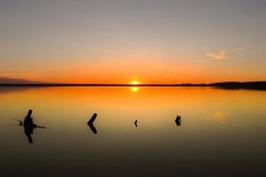 Минималистический закат на Камском заливе