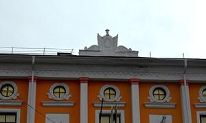 Лепнина на крыше